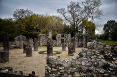 Butrint é os centros arqueológicos principais do ` s de Albânia fotos de stock
