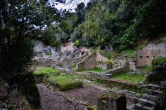 Butrint é os centros arqueológicos principais do ` s de Albânia imagem de stock