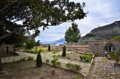 Butrint é os centros arqueológicos principais do ` s de Albânia foto de stock royalty free