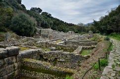 Butrint центры ` s Албании главные археологические стоковые фотографии rf