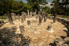Butrint, Albania. Famous Roman settlement located in archaeological city of Butrint in Albania Royalty Free Stock Image