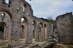 Butrint is the Albania`s major archaeological centers. And is protected under UNESCO as a World Heritage Site. The ancient town has been built on Ksamil stock photos