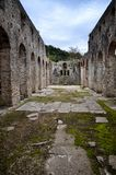 Butrint is the Albania`s major archaeological centers. And is protected under UNESCO as a World Heritage Site. The ancient town has been built on Ksamil royalty free stock photography