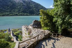 Butrint - centro del historiac que se protege debajo de la UNESCO como a fotos de archivo