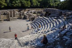 Butrint - historiac center which is protected under UNESCO as a stock photos
