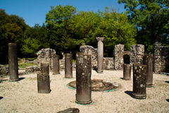 Butrint ruins, Albania. Old Greek ruins in the town of Butrint, Albania Stock Images