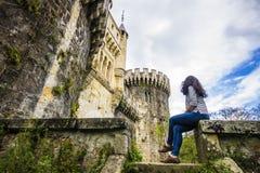 Butron slott, Spanien Arkivbilder