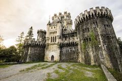 Butron slott, Spanien royaltyfri fotografi