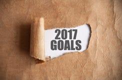 2017 buts découverts Photographie stock libre de droits