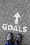 Buts de but aux aspirations de succès et au concept d'affaires de croissance image stock