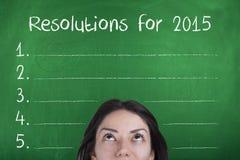 Buts de résolutions pendant la nouvelle année 2015 Photos stock