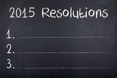 2015 buts de résolutions pendant la nouvelle année Photographie stock