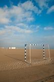 Buts du football de plage Images libres de droits