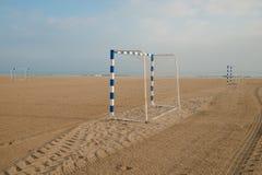 Buts du football de plage Image libre de droits
