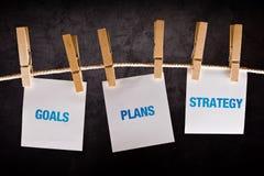 Buts, plans et stratégie, concept d'affaires Photographie stock libre de droits