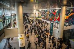Butsling Shibuya Train Station. Commuters passing through the Shibuya Station Stock Images