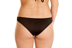 Butt back black swim suit Stock Image