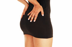 Butt in dress. Royalty Free Stock Photo