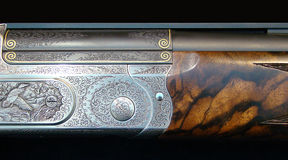 Of the gun decorated. With metal with the pickled figure royalty free stock image