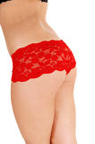 Butt in red panties. Stock Images
