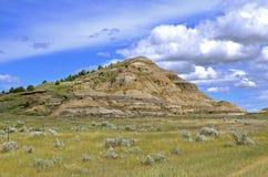 Butte av North Dakota Badlands arkivfoton