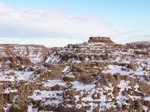 Butte in Badlands in de Winter royalty-vrije stock foto's