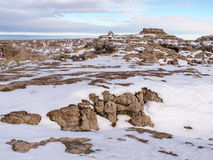 Butte in the Badlands in Winter Royalty Free Stock Image