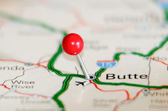 Butte city pin Stock Photography