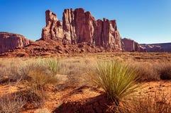 Butte d'éléphant en vallée de monument, parc tribal de Navajo, Utah Photo stock