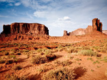 Butte in daytime in Monument Valley Stock Images