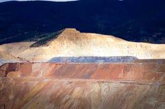 Butte de mine de cuivre d'exploitation à ciel ouvert, Montana, Etats-Unis Images libres de droits