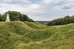 Butte de Vauquois, WW1 mine-a foré le paysage près de Verdun, ATF image libre de droits