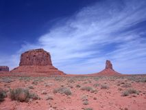 Butte in the desert of Monument Valley Stock Photos
