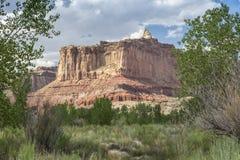 Butte dichtbij Muddy Creek in San Rafael Swell van Utah de V.S. Royalty-vrije Stock Foto