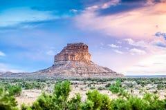 Butte Fajada в парке культуры Chaco национальном историческом, новом Mexi Стоковое Фото
