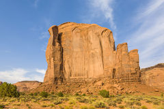 The Butte is a giant sandstone formation in the Monument valley Stock Image