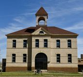 Butte High School. This is a Spring picture of Butte High School located in Butte High School located in Butte, North Dakota in McLean County. This two story royalty free stock images