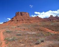 Butte längs huvudväg 128 i östliga Utah Arkivbilder