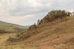 A butte . Landscape Stock Image