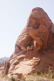 butte metalu czerwieni skały kroki Obraz Royalty Free