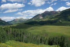 Butte mit Haube Colorado in der Sommerzeit lizenzfreie stockbilder