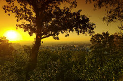 Butte montmarte sunset Stock Images