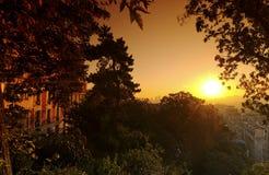 Butte montmarte sunset Stock Image