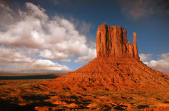 Butte in Monument Valley, Navajo Nation, Arizona. Striking Landscape in Monument Valley, Navajo Nation, Arizona Royalty Free Stock Images