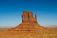 Butte occidentale de mitaine à la vallée de monument, Arizona photo libre de droits