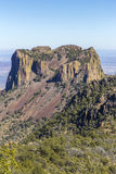 Butte rock formation Stock Images