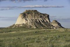 Butte van het westenpawnee in het Noorden - oostelijk Colorado Royalty-vrije Stock Afbeeldingen