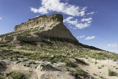 Butte van het westenpawnee in Noordoostelijk Colorado Royalty-vrije Stock Afbeeldingen