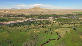 Butte Wind River-Reservierungs-Wyomings Crowheart stock video