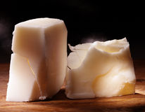 Butter. White butter on cutting board Royalty Free Stock Image